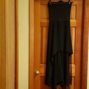 Aqua brand black high low tube dress